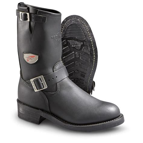 wing biker boots s wing 174 engineer boots black 168170 motorcycle