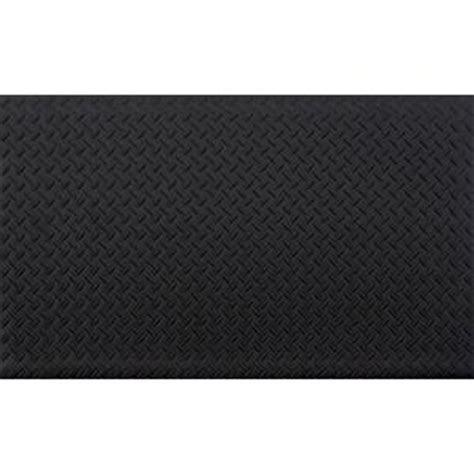 Home Depot Foam Mats by Trafficmaster Black 24 In X 36 In Anti Fatigue Vinyl