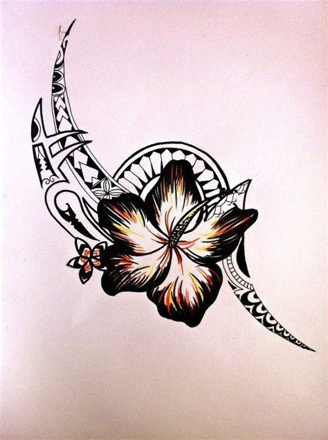 tribal flower tattoo in with the flower more than anything tribal