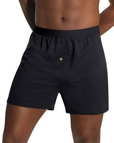 hanes knit boxers hanes hn255k mens tagless knit boxers with comfort flex