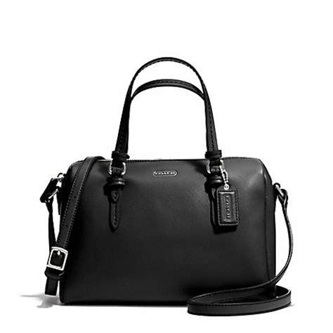 Jual Tas Coach Mini Bennet Blue Sky Black Original Asli 1 coach f50430 peyton mini satchel silver black coach handbags