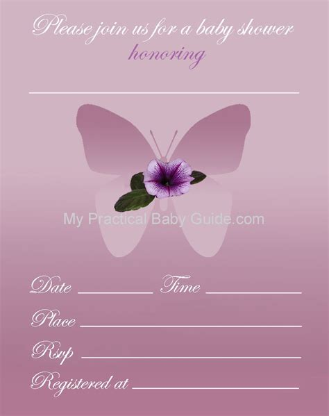 Butterfly Baby Shower Invitations Printable Free by Free Printable Butterfly Baby Shower Invitations