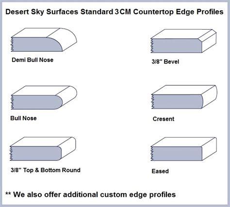 countertop edge profiles countertop edge profiles cool granite countertop edge