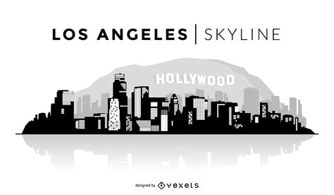Construction Plans Online by Los Angeles Skyline Silhouette Vector Download