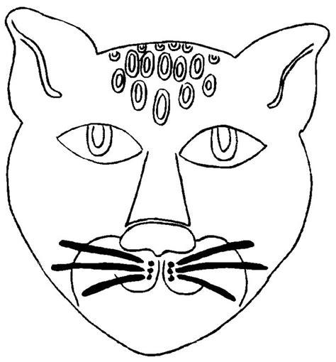 printable jaguar mask 為孩子們的著色頁 jaguar mask coloring pages