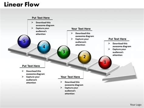 powerpoint template process flow process powerpoint template ppt 3d circle arrow process