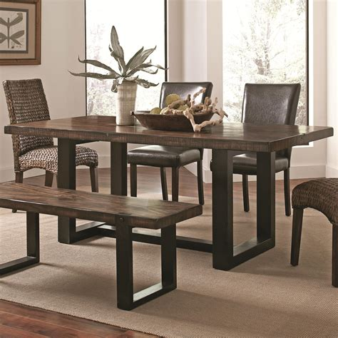 coaster kitchen table coaster westbrook dining casual rustic dining table dunk bright furniture kitchen table