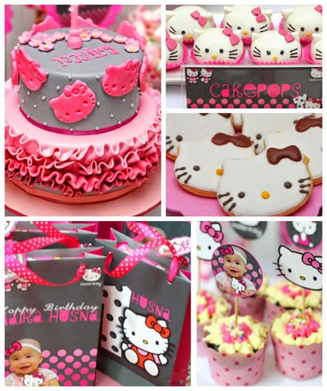 Hello Kitty Giveaways For Birthday - pink and grey hello kitty themed birthday party with such cute ideas via kara s party