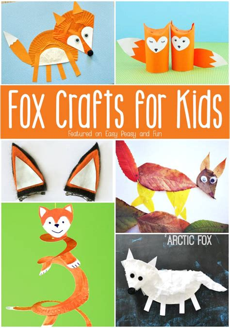fox crafts for fox crafts for easy peasy and