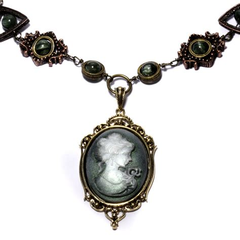 steunk cameo necklace 3 by catherinetterings on deviantart - How To Make Cameo Jewelry