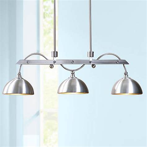 Uttermost Island Lighting Uttermost Malcolm 45 Quot Wide Nickel 3 Light Island Pendant