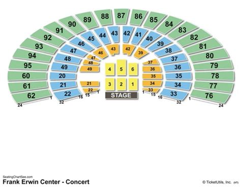 frank erwin seating capacity frank erwin center seating chart seating charts and tickets