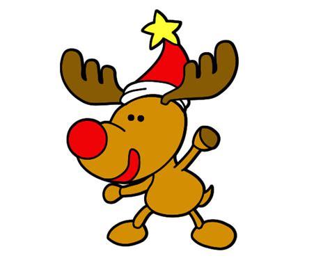 in color reno dibujo de rudolf el renoo pintado por nadal en dibujos