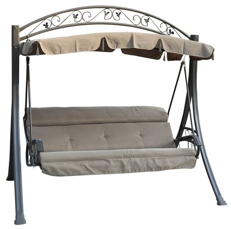 hammock bench swing foxhunter garden metal swing hammock 3 seater chair bench
