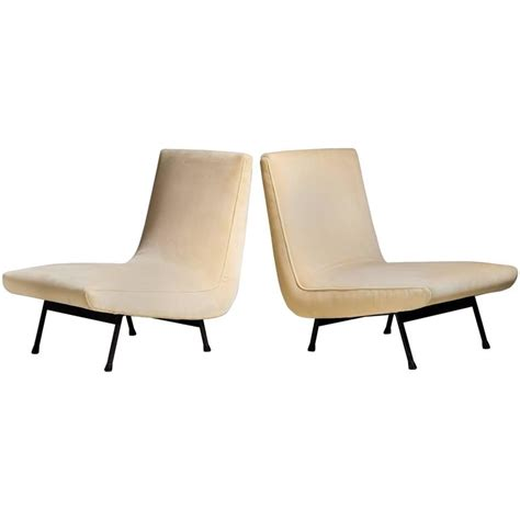 white slipper chairs pair of white slipper chairs 1950s for sale