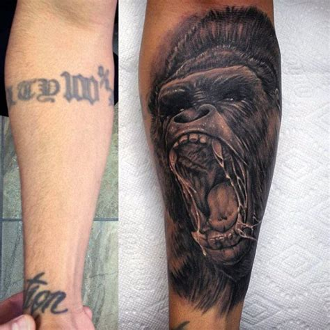 gorilla tattoo designs 100 gorilla designs for great ape ideas