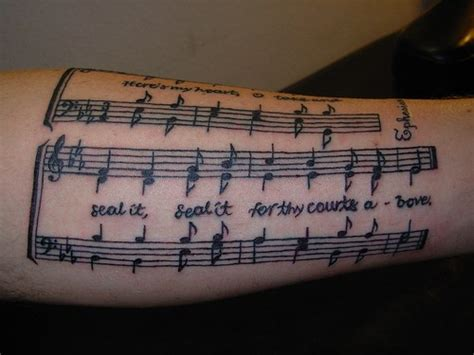 music sheet tattoo designs 30 unique forearm tattoos for you ll these