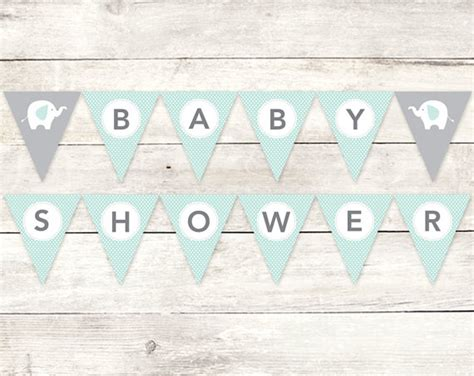 Bunting Flag Diy Banner Baby Shower Banner Bridal Shower Banner Req baby shower banner printable diy bunting banner elephant