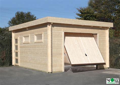 garage aus holz garage wolff 171 44 moderna 187 holzgarage 44mm blockbohle