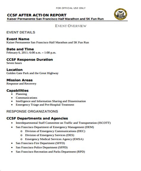 Intelligence Report Writing Template 7 Report Templates Free Sle Exle Format
