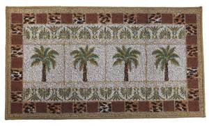 Palm Tree Rugs Palm Tree Grid Kitchen Rug Tropical Decor Accent Rug