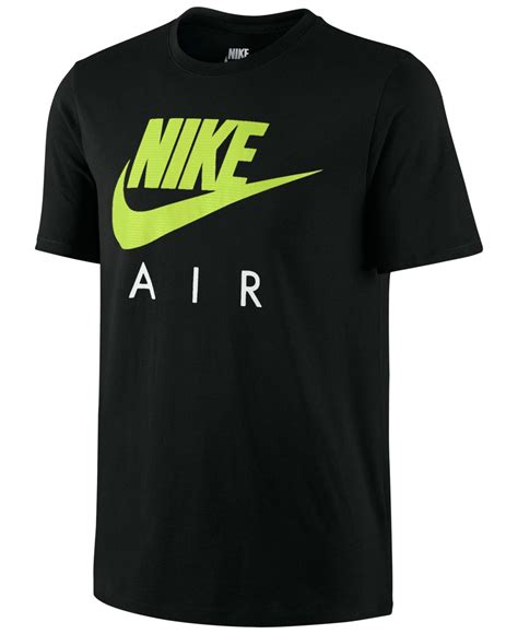 T Shirt Nike Air Black nike air logo graphic t shirt in green for lyst
