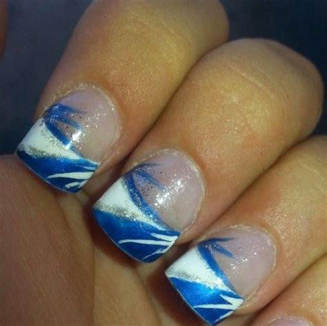 White Blue Nail Designs