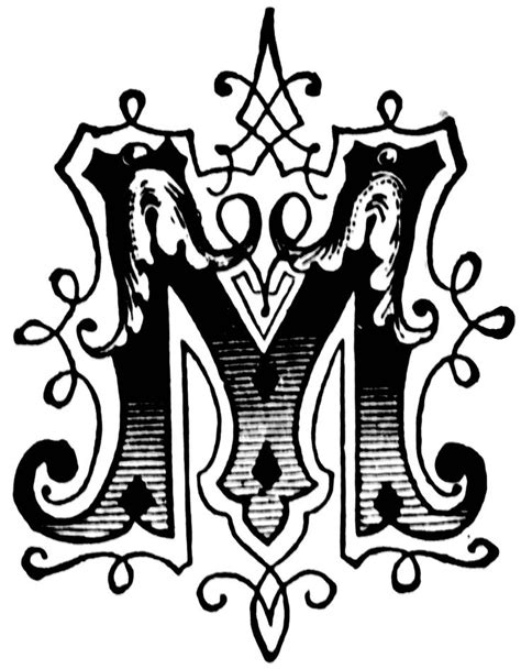 beautiful alphabet letter designs m letters exle