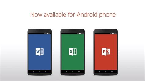 free apps for android cell phones microsoft office apps for android phones are now freely available for pureinfotech