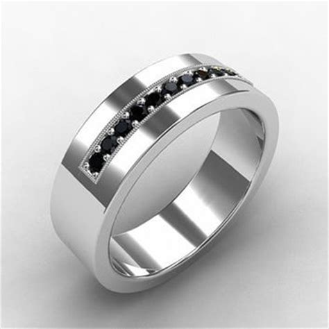 black ring white gold wedding from
