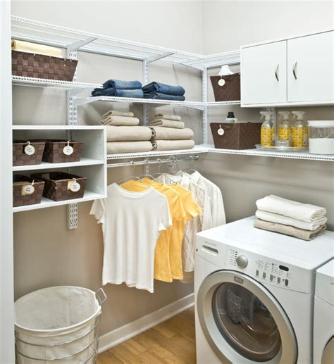 how to organize laundry room organized living freedomrail laundry room traditional laundry room cincinnati by