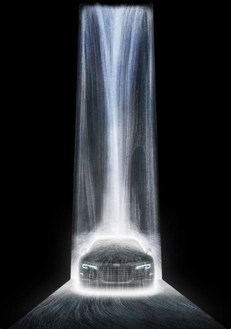 Japanese Design by Digital Waterfalls With Projection Mapping Projection