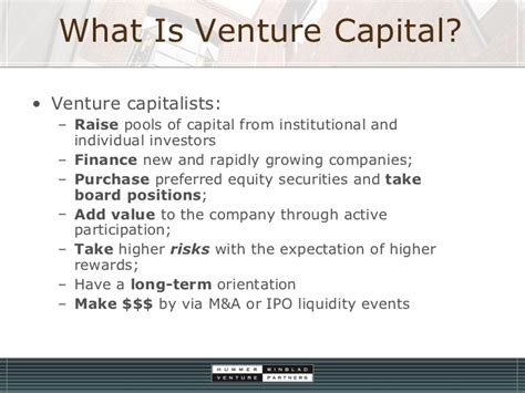 Best Mba Program For Equity Or Venture Capital by Introduction To Venture Capital