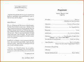 Free Church Program Templates by 7 Church Anniversary Program Templatememo Templates Word