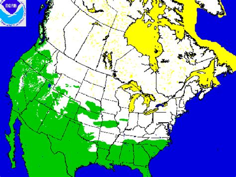 usa snowfall map american snow cover at 3rd highest level on record