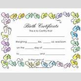 Free Printable Baby Birth Certificate Template - This blank printable ...