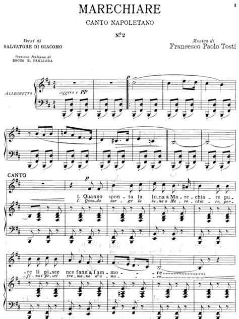 Tosti - Marechiare - Canto Napoletano - Medium Voice