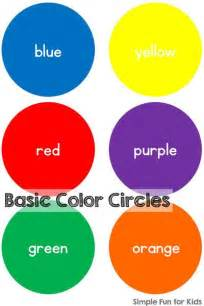 8 basic colors 17 best images about preschool color theme on