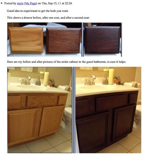 how to restain bathroom cabinets best 25 staining oak cabinets ideas on