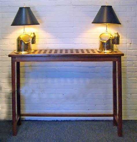 nautical sofa table custom made foyer table using a re purposed teak ship s