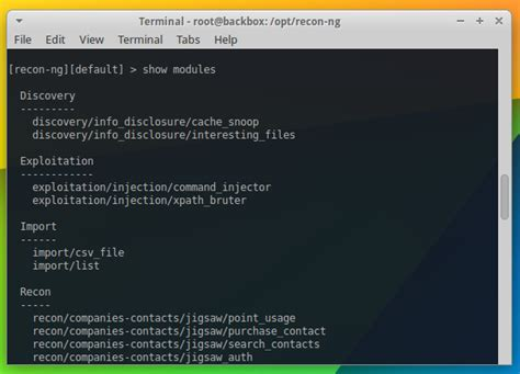 tutorial linux backbox install recon ng pada backbox linux