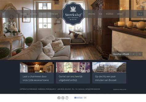 bed and breakfast website bed and breakfast sterckxhof webdesign inspiration www niceoneilike com