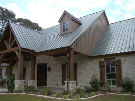 tin roof house plans a lovely texas hill country style home featuring native