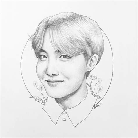 Jhope Drawing Easy by So Pretty Hobi Bts Bts Fanart And Hoseok