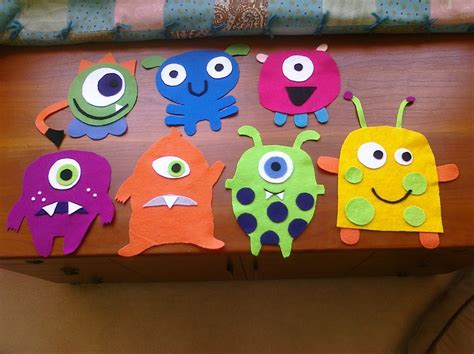 How To Make Paper Monsters - nifty thrifty thriving felt monsters