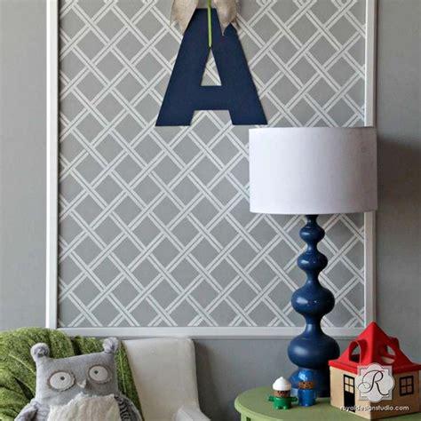furniture stencils basketweave ribbon lattice stencil