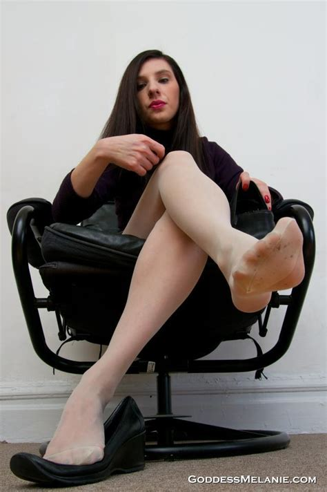 goddess melanie foot well worn loafers and sweaty smelly pantyhose photo