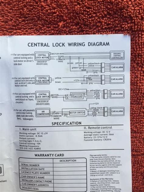 big hawks keyless entry system wiring diagram speed
