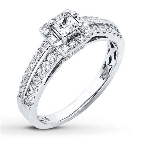 jared engagement ring 7 8 ct tw princess cut 14k