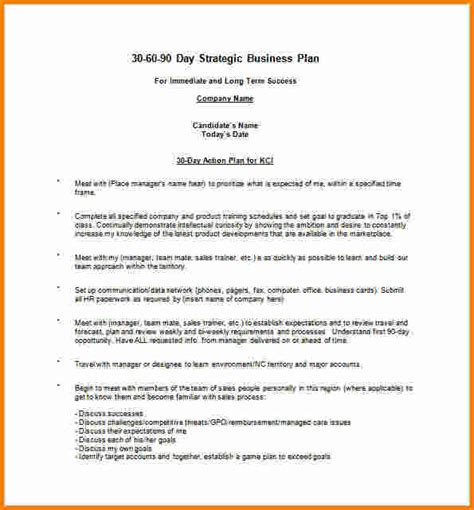 business sales plan template 10 30 60 90 day sales plan template free sle cashier